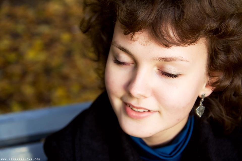 autumn portrait in Pavlovsk park