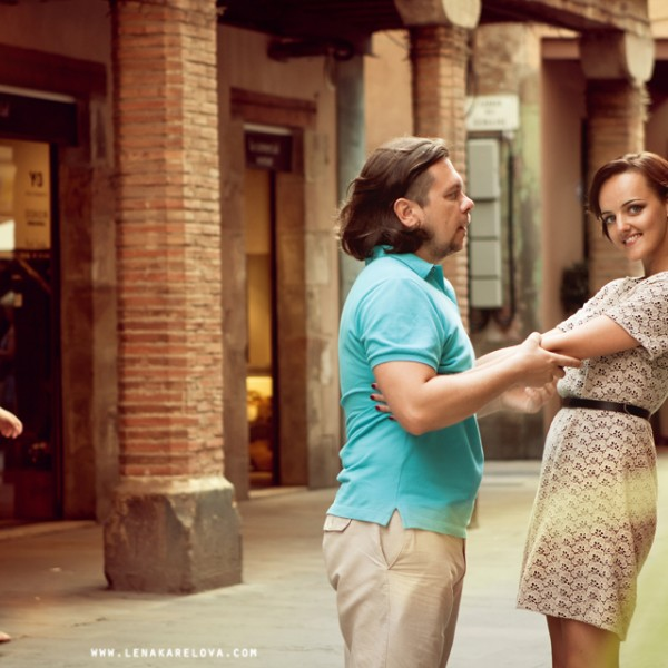 September Love Story of Mary and Vadim in Barcelona