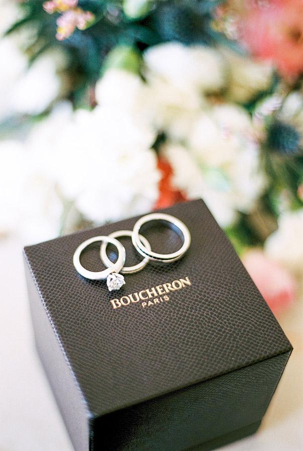 Beautiful Boucheron rings shot | Light and Airy Film Photography | Lena Karelova Destination Wedding Photographer
