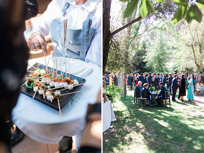 Tasty catering |Wedding at Mas Vidrier | Destination Wedding Photographer Barcelona