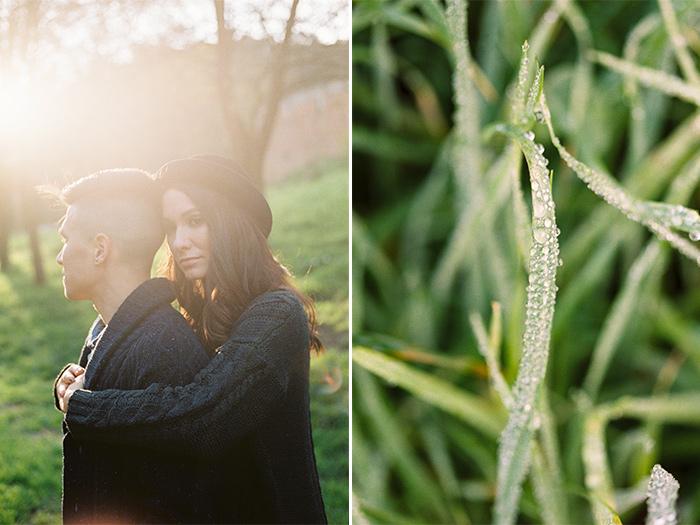 Beautiful portrait of a couple during the golden light | Collserola Wedding Anniversary Photoshoot | Lena Karelova Barcelona Film Photography