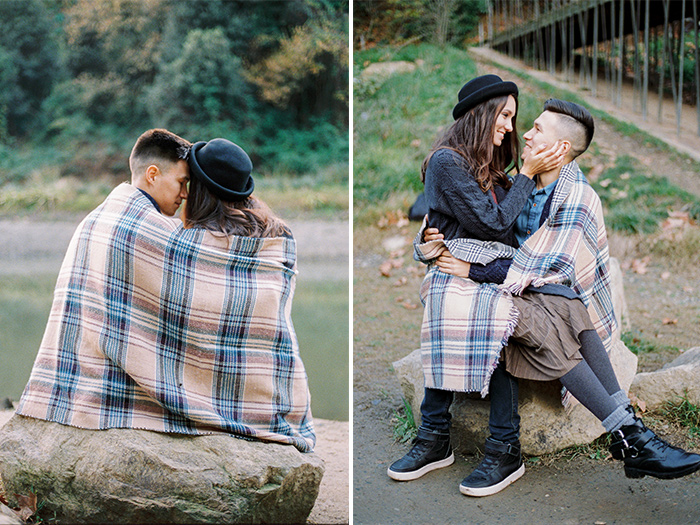 Cozy autumn couple photoshoot near Barcelona | Collserola Wedding Anniversary Photoshoot | Lena Karelova Barcelona Film Photography