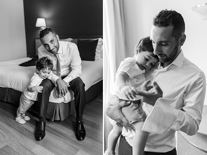 Groom and his little son |Wedding at Torre Sever | Destination Wedding Photographer Barcelona