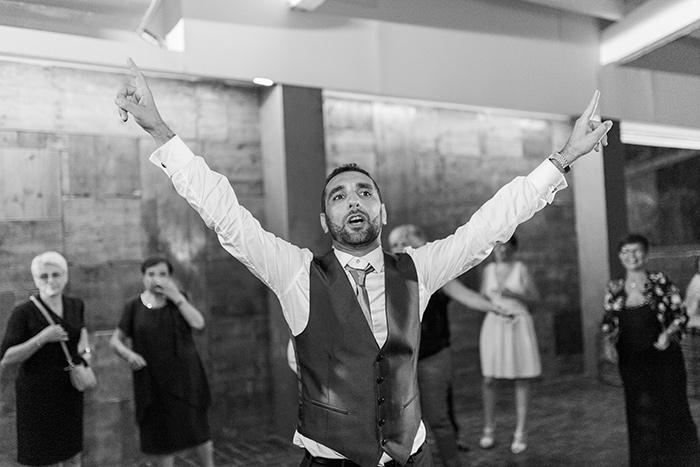 Dancing groom | Wedding at Torre Sever | Destination Wedding Photographer Barcelona