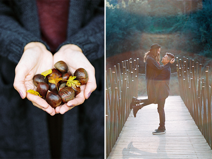 Autumn portrait photo session Barcelona | Collserola Wedding Anniversary Photoshoot | Lena Karelova Barcelona Film Photography