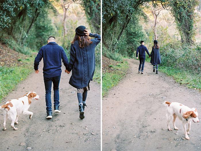 Couple and the dog | Collserola Wedding Anniversary Photoshoot | Lena Karelova Barcelona Film Photography