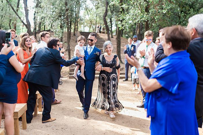 Groom and his mother | Wedding at Torre Sever | Destination Wedding Photographer Barcelona