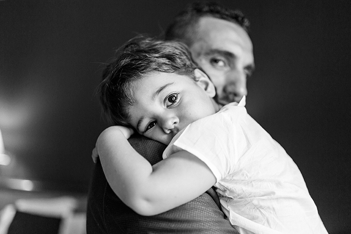 Portrait of the groom and his son | Wedding at Torre Sever | Destination Wedding Photographer Barcelona