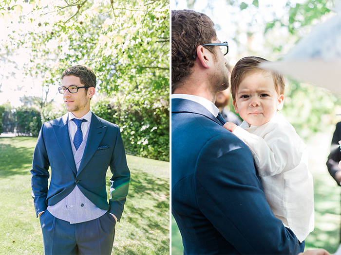 Portrait of groom and his nephew |Wedding at Mas Vidrier | Destination Wedding Photographer Barcelona