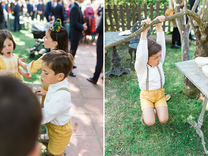 Naughty kids at the reception |Wedding at Mas Vidrier | Destination Wedding Photographer Barcelona