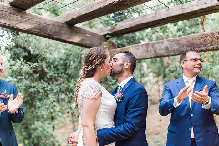 Kiss | Wedding at Torre Sever | Destination Wedding Photographer Barcelona