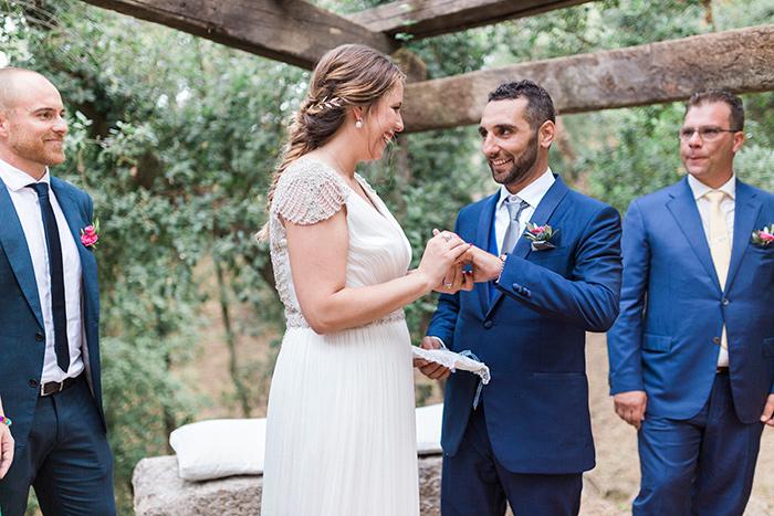 Ring exchange | Wedding at Torre Sever | Destination Wedding Photographer Barcelona