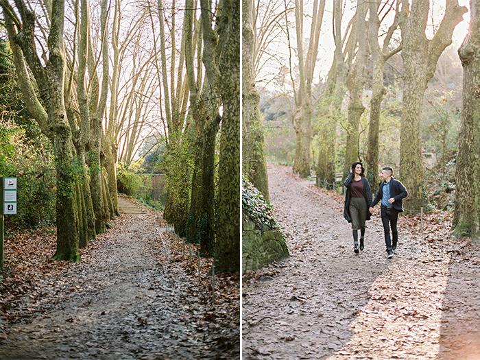 Couple at the natural park| Collserola Wedding Anniversary Photoshoot | Lena Karelova Barcelona Film Photography