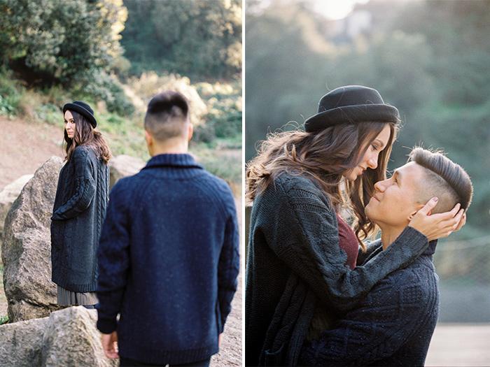 Photo Session for two lovebirds | Collserola Wedding Anniversary Photoshoot | Lena Karelova Barcelona Film Photography