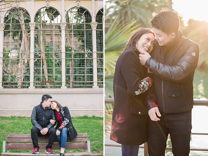 Beautiful couple at Ciutadella Park | Barcelona Engagement Photography | Wedding Photographer Barcelona | Top 5 places for engagement in Barcelona
