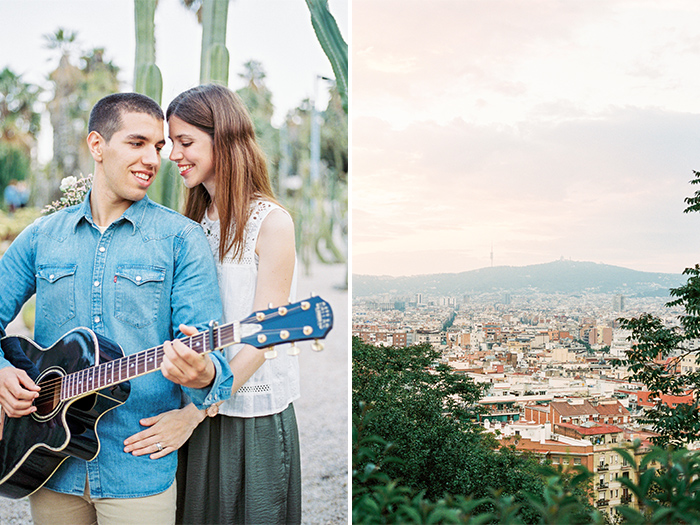Beautiful couple at Montjuic | Barcelona Engagement Photography | Wedding Photographer Barcelona | Top 5 places for engagement in Barcelona