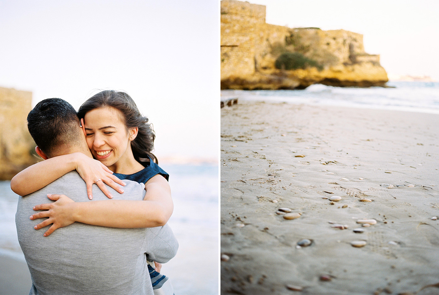 Castell de Tamarit Wedding Photography | Beach Wedding Proposal Photography | Film Photographer Spain | Kodak Portra 400
