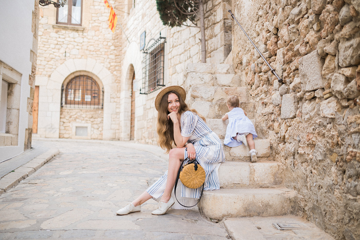 Sitges Family Photographer | Lovely young mother with her little dauther | Lena Karelova Photographer in Barcelona