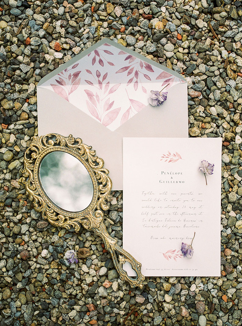 wedding stationary flat lay | destination wedding photographer | film wedding photographer