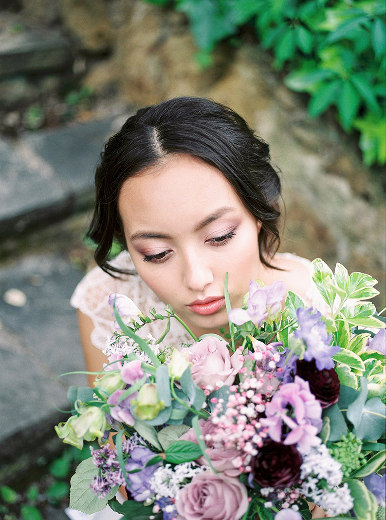 light and fresh wedding make up | destination wedding photographer | film wedding photographer