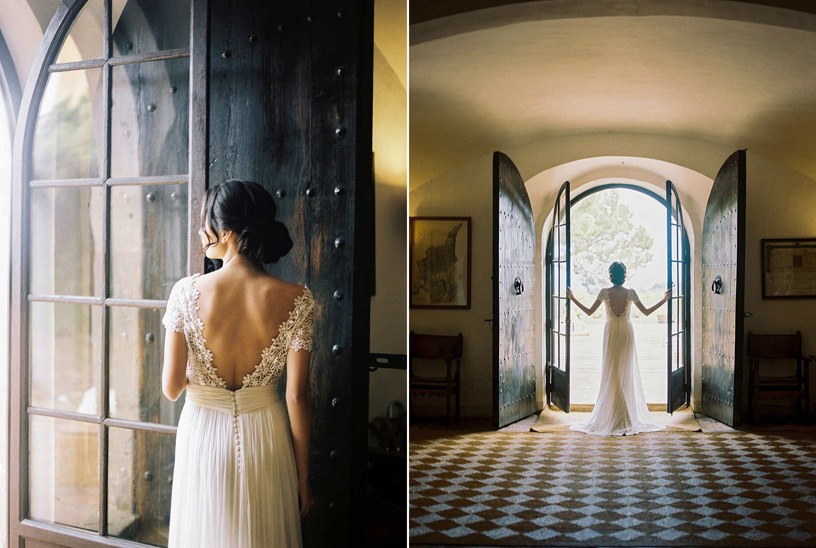asian bride wearing jose maria peiro wedding gown | Wedding Inspiration Masia Egara Venue | destination wedding photographer | film wedding photographer
