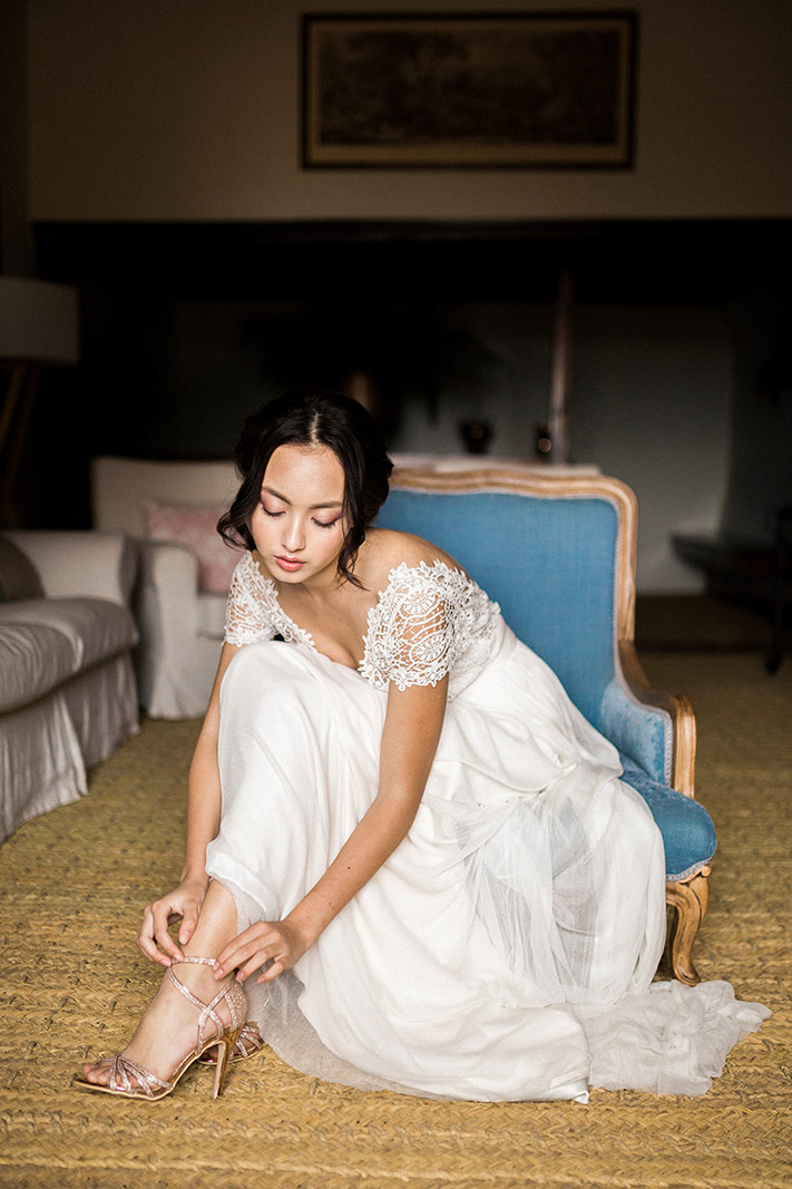 asian bride wearing jose maria peiro wedding gown | destination wedding photographer | film wedding photographer