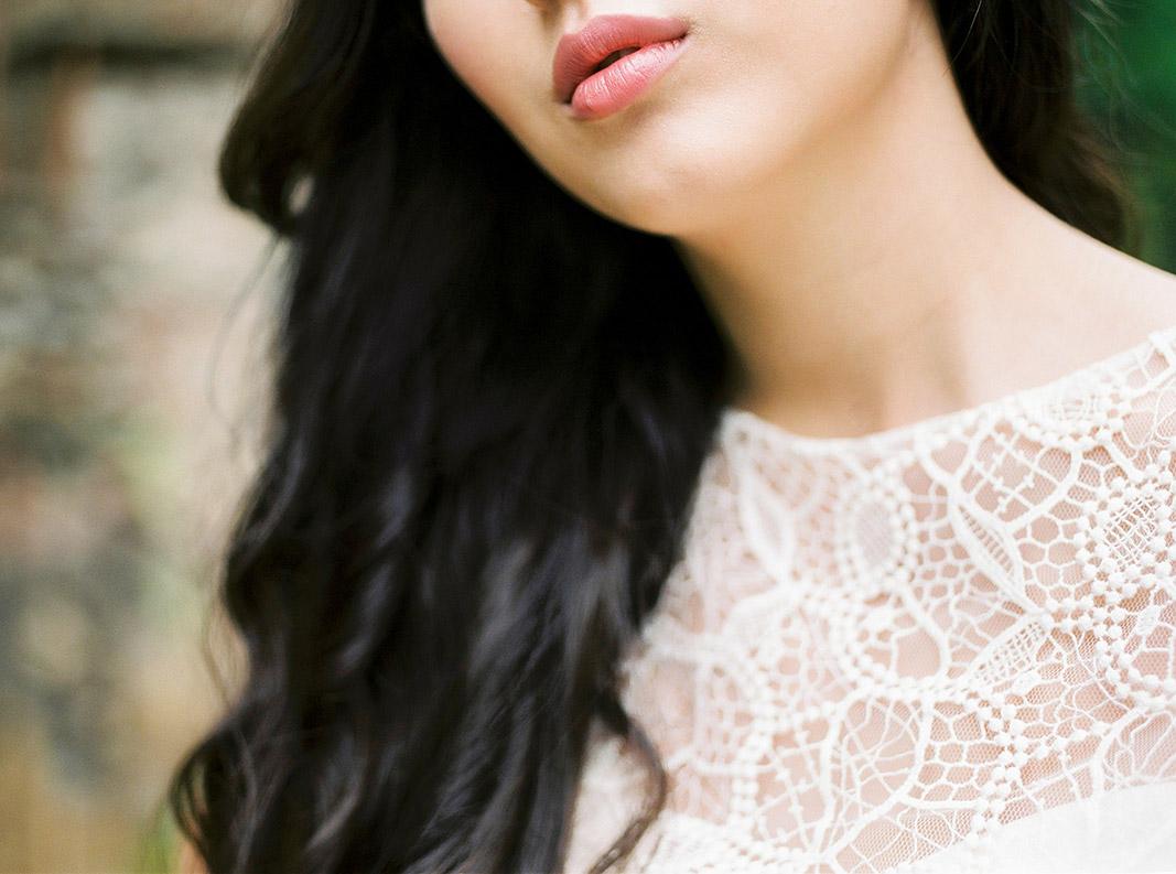 close up portrait of the bride | destination wedding photographer | film wedding photographer