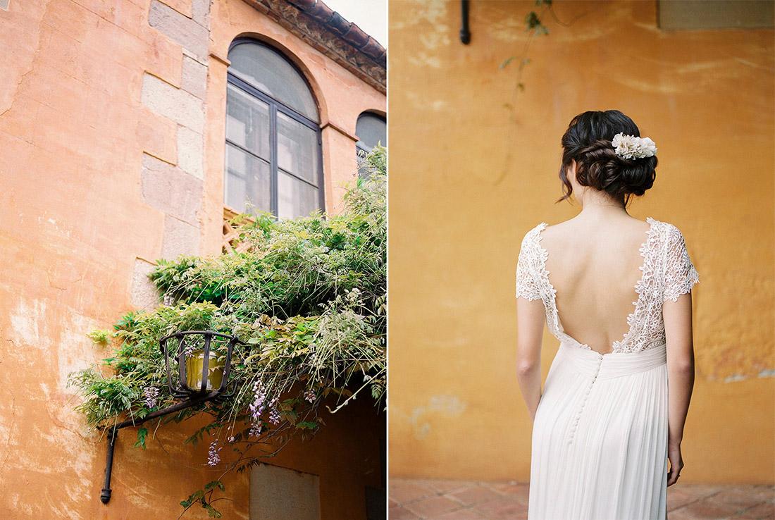 asian bride wearing jose maria peiro wedding gown | Wedding Inspiration Masia Egara Venue | destination wedding photographer | film wedding photographer
