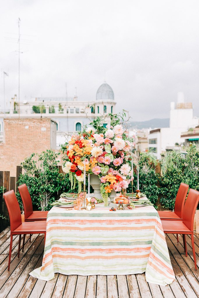 Barcelona Rooftop Elopement Wedding | Destination Film Wedding Photographer Barcelona Spain Europe