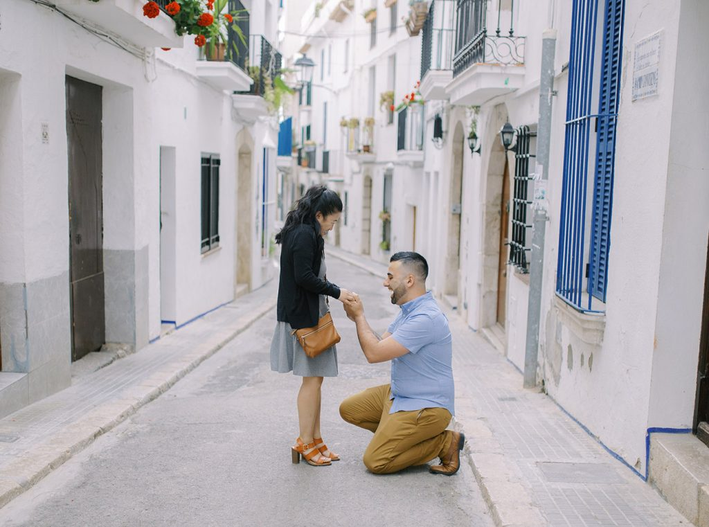 Surprise Marriage Proposal in Barcelona - Sitges | Lena Karelova Photography